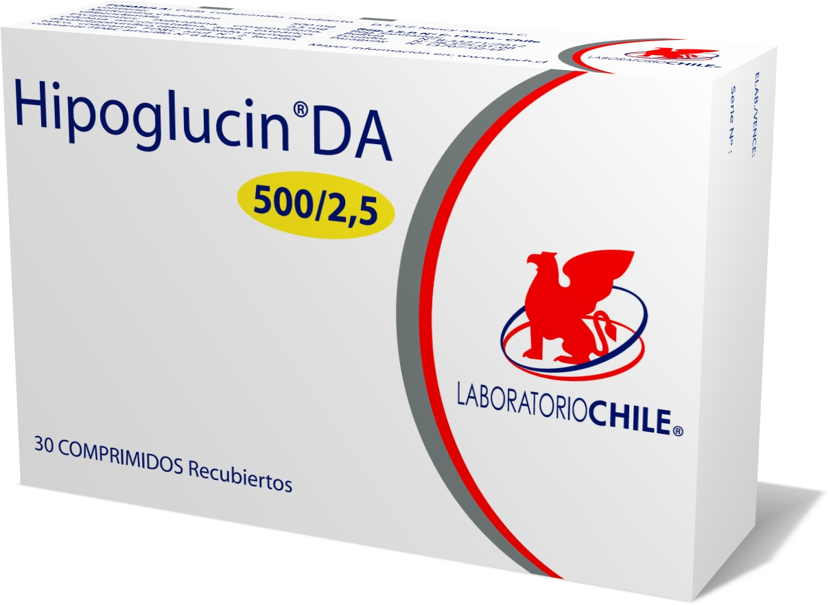 Hipoglucin DA 500 mg / 2.5 mg