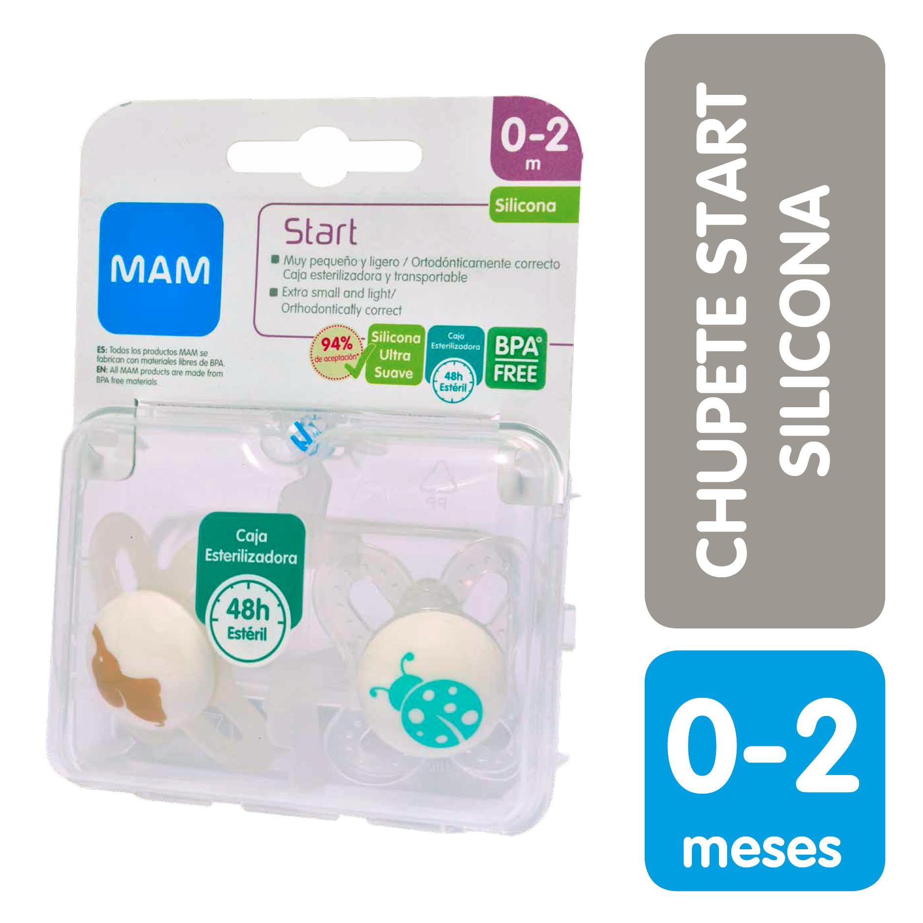 nueva productos 8effa 08250 Mam Chupete x2 Start 0+ Silicona | Laboratorio Chile | Teva