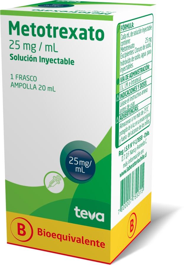 Metotrexato 25 mg / mL