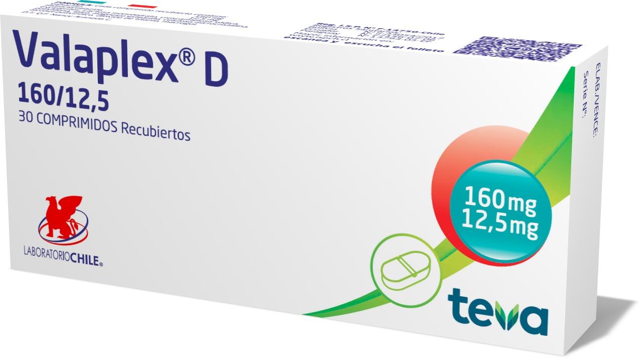 Valaplex D 160 / 12,5 mg