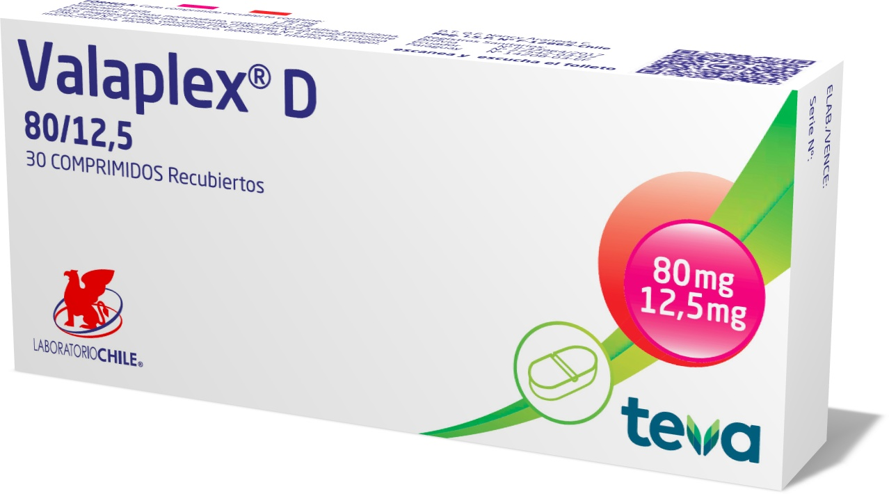 Valaplex D 80 / 12,5 mg