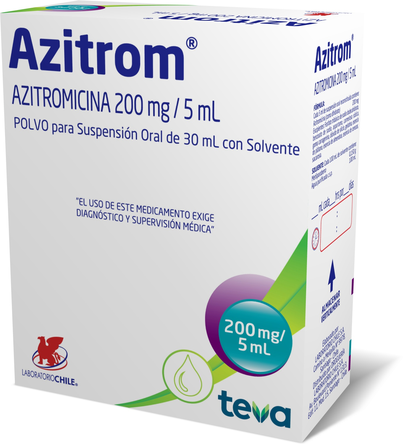 Azitrom 200 mg / 5 mL